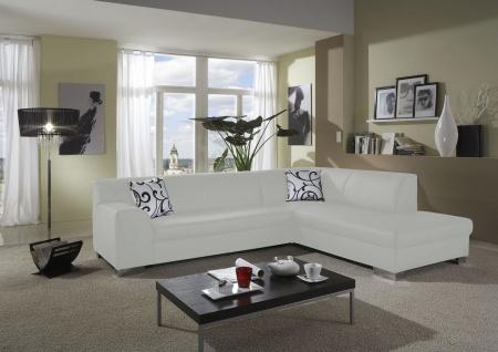 Eckcouch Bettfunktion L-Sofa Wohnlandschaft L-Form 2 Farben schwarz weiß DO-Taverna - Vorschau 3