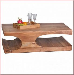 Design Couchtisch Massivholz Modern 2 Holzarten Akazie Sheesham W-CA1522