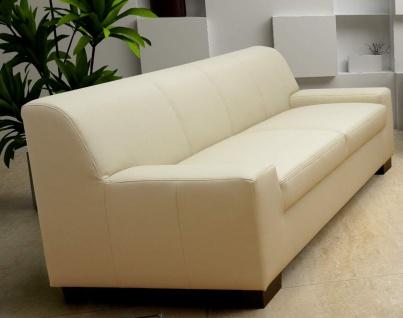 3-tlg. Couchgarnitur 3er Couch 2er Sofa Hocker Polstergarnitur DO-Napoli - Vorschau 3