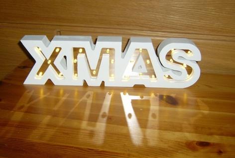 LED Leuchtdeko Xmas Schriftzug 35 x 9 cm 24 LED warmweiß Weihnachten F-XMAS-2