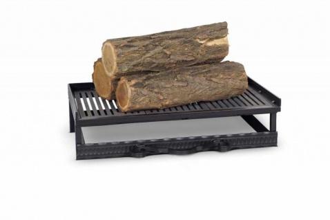 Feuerrost inkl. Aschekasten Kaminrost Feuerbock Eisen Gusseisen schwarz 52x31x12 cm N-FR-224
