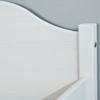 Bettgestell Bett Doppelbett Einzelbett 4 Größen 2 Farben Massivholz weiß natur L-Kalli - Vorschau 4