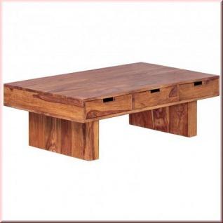 Couchtisch Massivholz 6 Schubladen 2 Holzarten Akazie Sheesham handgefertigt Landhausstil W-C6S1721