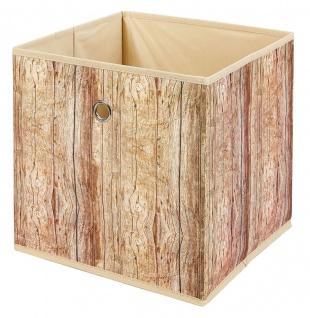 Faltbox 1x Aufbewahrungsbox 3 Dessins wählbar Holzoptik Regalbox 32 x 32 x 32 cm L-Woody - Vorschau 4