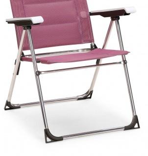 Campingstuhl Klappstuhl verstellbar silber lila Alugestell BF-Youth - Vorschau 5