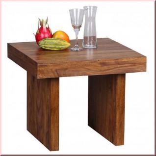 Beistelltisch Couchtisch Massivholz 2 Holzarten Akazie Sheesham Unikat handgefertigt W-BT1587