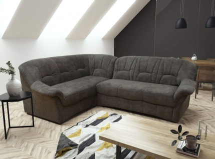 Ecksofa Polstermöbel Federkern Sofa Bettfunktion wählbar Eckgarnitur L-Form Farbwahl DO-Brüssel