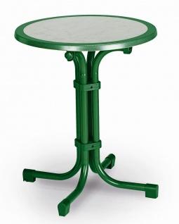 Gartentisch rund 3 Größen 6 Farben Klapptisch Werzalittischplatte marmoriert BF-Boule-R
