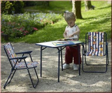 Klappstuhl camping kinder  3-tlg Kinder Camping Möbel 2 Klappstuhl Klapptisch Kinder ...