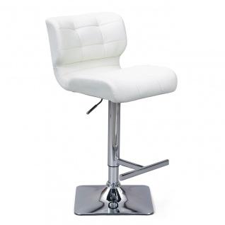 2er Set Barhocker weiß schwarz höhenverstellbar drehbar Polsterung ergonomische Rückenlehne L-Escor