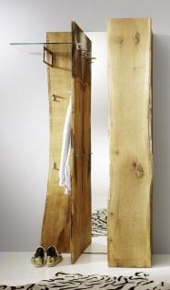 Garderobenset 3-teilig Garderobe Landhausstil Eiche massiv sägerau AW-Wildtree-S-A