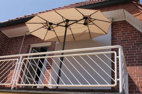 Sonnenschirm oval 2 Farben Kurbel Aluminium-Gestell 2, 70 x 1, 5 m LC-Shiny