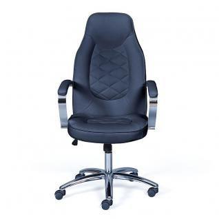 Schreibtischstuhl 2 Farben weiß schwarz Wippmechanik höhenverstellbar L-Boslo