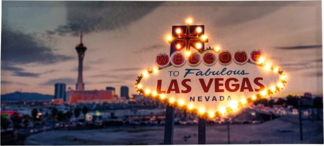 XXL LED Bild beleuchtet 31 warmweiße LEDs Leuchtbild 100 x 45 cm Nevada USA H-Las Vegas-1