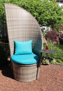 Exklusiver Design Gartensessel inkl. 2 Kissen Tisch schwenkbar Lounge-Sessel LC-Drink