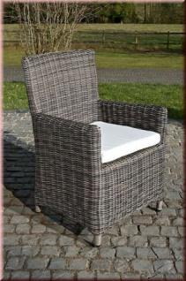 5-tlg Dining Lounge Sitzgruppe Gartenmöbelset 4x Sessel Kissen Tisch Ø 131 cm CL-Porto - Vorschau 2