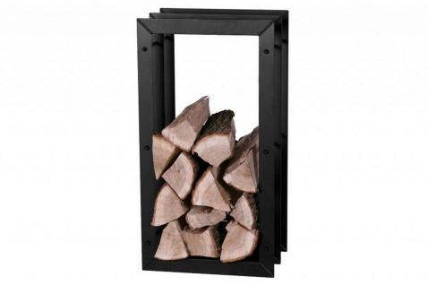 Brennholzregal 2 Größen Stahl schwarz Fächer-Design Kaminholzständer 85 cm hoch N-BR-125