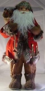Nikolaus Textil Weihnachtsfigur 60 cm Nostalgie Weihnachtsmann Geschenkesack F-Nikolaus-2