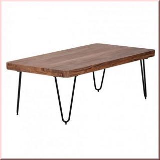 Design Couchtisch Massivholz Tischplatte 5 Cm 2 Holzarten Akazie