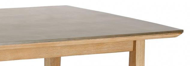 Gartentisch 2 Größen 170/230 cm Dining Tisch Materialmix Massivholz Tischplatte Beton BF-Leyla - Vorschau 4
