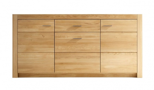 massivholz sideboard eiche geolt asteiche wildeiche massiv 163 x 80 x 42 cm f henry