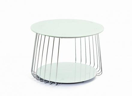 Couchtisch Weiss Glas Rund