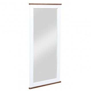 Spiegel Garderobenspiegel 145 cm Landhausstil Massivholz 2-farbig sepia-braun weiß L-Wendy-10