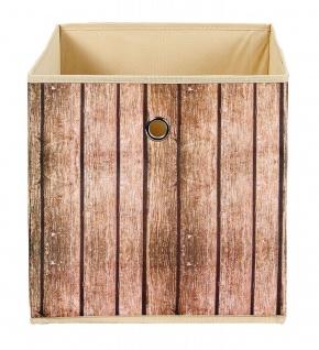 Faltbox 1x Aufbewahrungsbox 3 Dessins wählbar Holzoptik Regalbox 32 x 32 x 32 cm L-Woody - Vorschau 1