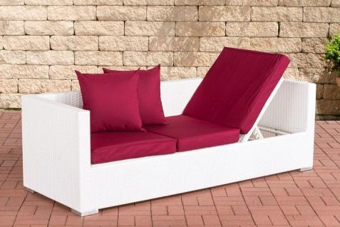 Lounge Sofa Relax-Gartensofa beidseitig verstellbar 4 Geflecht- 5 Polsterfarben CL-Split