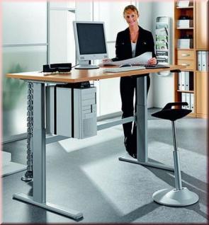 Schreibtisch Up & Down elektr. höhenverstellbar Stehpult 120-160 cm 6 Farben S-W-Newb