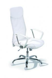 Schreibtischstuhl höhenverstellbar Bürostuhl weiß L-Fio