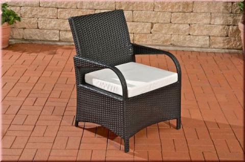 Stuhl Gartenstuhl Gartensessel Lounge inkl. Kissen Rattan 4 Farben CL-Piazza-S