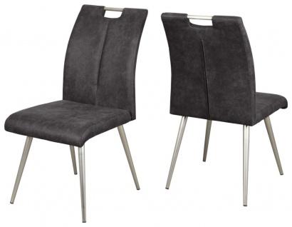 4-er Set Stuhl 4-Fuß Schwerlaststuhl Gurtunterfederung 4 Stühle 150 kg belastbar grün grau R-Sue