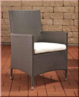 Gartenstuhl Lounge Sessel inkl. Kissen Rattan 7 Farben CL-Josy
