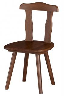 2er Stuhlset Stühle Massivholz Kiefer mocca Landhausstil L-Amie-S