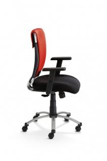 Schreibtischstuhl 4 Farben Bürostuhl Armlehnen höhenverstellbar Gewichtseinstellung M-Sky - Vorschau 4