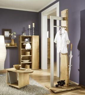 Exklusives Garderobenset 4 tlg. Garderobe Landhausstil Eiche sägerau AW-Wildtree-S-D