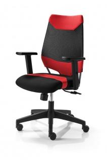 Bürostuhl 4 Farbkombinationen Drehstuhl höhenverstellbare Armlehnen Synchronmechanik M-Miko - Vorschau 1