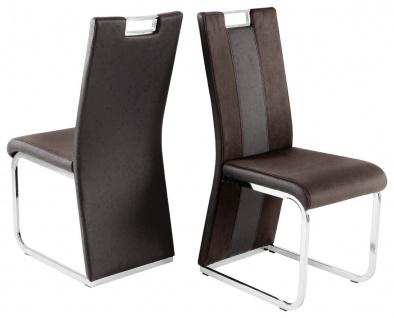 4er Stuhlset Hochlehner Softpolster 2 Farben Farbmix Materialmix Ziernaht R-Hoba