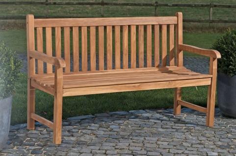 Teakholz Gartenbank 4 Größen Bank massiv Holz 120 - 200 cm CL-Cessy