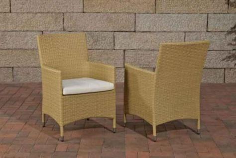 Gartenstuhl Lounge-Sessel inkl. Kissen Rattan 7 Farben CL-Josy