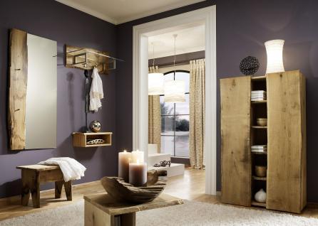 Garderobe Set 6-teilig Landhausstil Eiche massiv sägerauh AW-Wildtree-Set-B - Vorschau 1