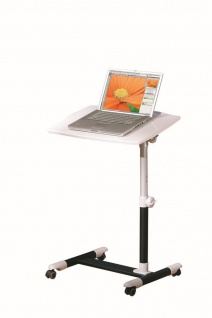 Laptoptisch Pult Stehpult neigungs- höhenverstellbar weiß/schwarz L-Alox