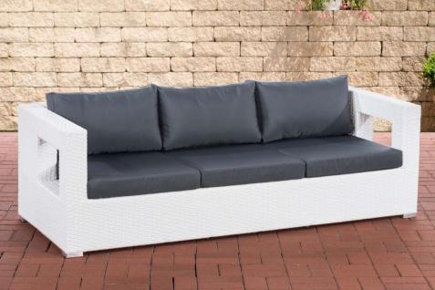 Lounge Sofa Gartensofa inkl. Kissen Polster-/Geflechtfarbe wählbar CL-Halia