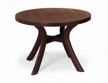 Gartentisch Tisch rund Ø 100 cm 6 Farben BF-Korfu-1