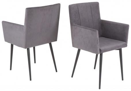 2er Pack Stühle Armlehnen Stuhl Set 3 Farben Lounger gepolstert belastbar 120 kg R-Monti