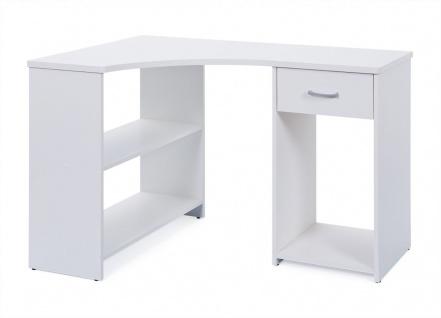 Eckschreibtisch Schreibtisch Schublade 2 Farben Sonoma-Eiche weiß L-Capri - Vorschau 3