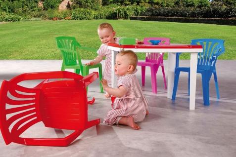 Kindertisch Kinder Gartentisch Stiftehalter Tischplatte aufklappbar Staufach BF-Alibaba-T