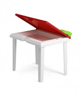 Gartentisch Kindertisch Stiftehalter Tischplatte aufklappbar Staufach BF-Alibaba-T - Vorschau 2