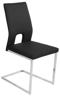 4er Set Freischwinger Stuhl Gurtunterfederung Kufengestell 3 Farben Kunstleder R-Jana